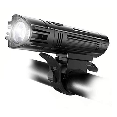 Abcidubxc Faro LED impermeable para bicicleta recargable por USB
