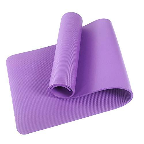 YeeWrr Estera de Yoga Antideslizante Estera de Yoga Estera de Fitness de Viaje Estera de Fitness con Estera de Yoga de Fitness-púrpura_10mm