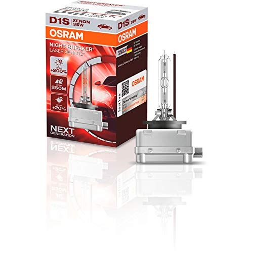 OSRAM XENARC NIGHT BREAKER LASER D1S, + 200%, xenón, 66140XNL, 1 lámpara