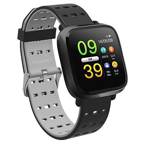 Fltaheroo Reloj inteligente de los hombres de la presión arterial IP67 impermeable de la actividad física reloj reloj inteligente para iOS Android dispositivos portátiles negro gris