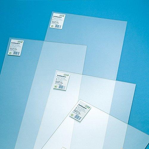 [70101010] Hobbyglas, Größe: 500 x 250 mm, transparent, Stärke: 2mm, Glasscheibe aus Kunststoff
