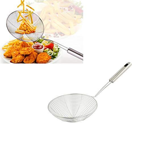 Siebkelle Edelstahlspinne Siebkelle für Pasta-Spaghetti-Nudeln und Braten in Küche 12-Zoll-Schüssel