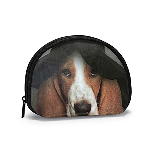Divertido Basset Hound perro mago impreso temático cambio monedero lindo Shell almacenamiento bolsa...