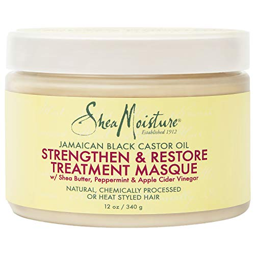 SheaMoisture Jamaican Black Castor Oil Treatment Masque For Dry Hair Jamaican Black Castor Oil Paraben Free Hair Mask 12 oz
