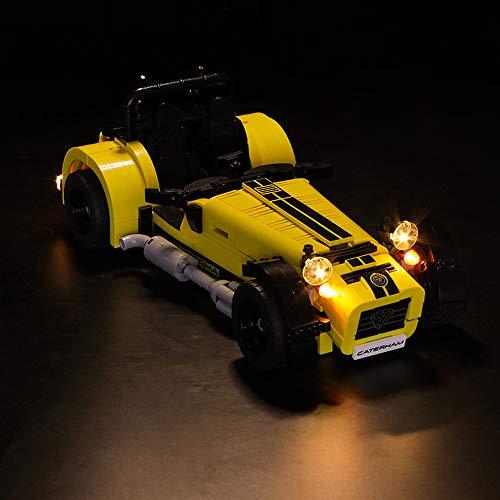 WYY DIY Lighting Kit Kompatibel Mit Lego 21307, LED-Licht-Set Für Caterham Seven 620R Rennwagen-Bausteine (Nur Light Set)