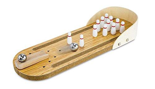 iTemer Desktop Bowling Spielzeug aus Holz Bowling Alley Sport Spiel Tisch Pädagogische Spielwaren 29.5x10cm