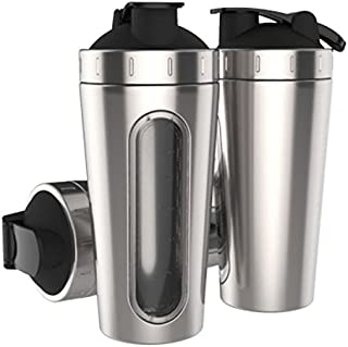 Stainless Steel Protein Shaker Bottle 28oz 800ml Dishwasher Safe Diet Mixer Shaker Non-toxic 100% Leak Proof With Wide Mouth and Loop Top & Ball Portable BPA Free For Women Men Gym Fitness Workout Sports