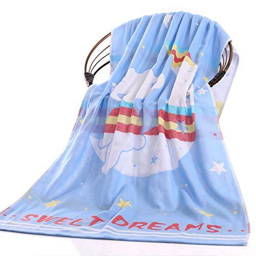 DSJDSFH Badetuch Baumwolle Dreischichtige Gaze Badetuch 70 * 140Cm Komfortable Saugfähige Nicht Fluoreszierende Nicht Einfach, Haar Kinder Cartoon Großes Badetuch Zu Vergießen