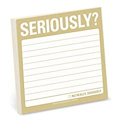 No matter your notation needs, ensure that even the smallest stuff gets noticed with Keep It Simple Stickies from Knock Knock Just as colorful and witty as all your brilliant (or mundane) thoughts Seriously cool sticky note for seriously cool people ...