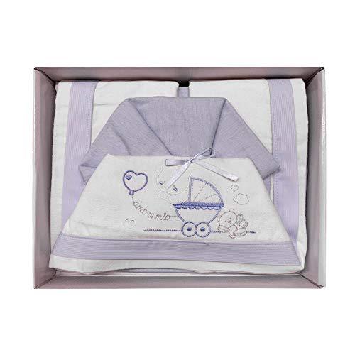 NADA HOME Juego de sábanas para cuna de franela con pequeñas emociones, 3837