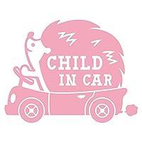 imoninn CHILD in car ステッカー 【パッケージ版】 No.37 ハリネズミさん (ピンク色)