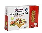 Crackers Integrales con Algas, Espelta, Tomate, Arroz y Chía. 160 GR ECO BIO