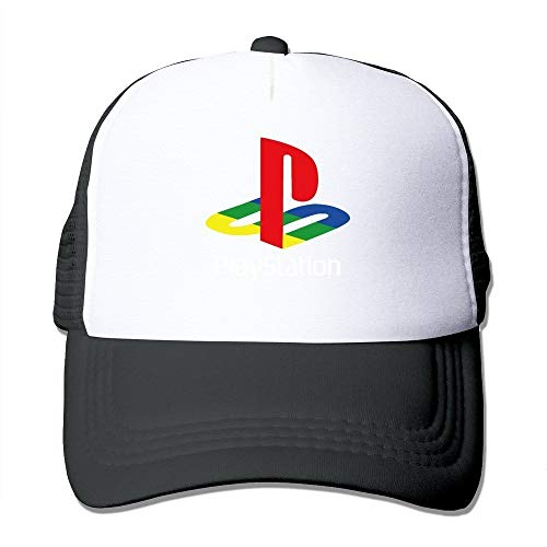 Youaini Cool Playstation Trucker Mesh Baseball Cap Hat Black