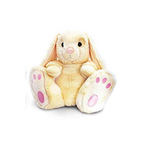 Keel Toys Patchfoot Plüsch Hase (18cm) (Creme)