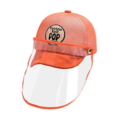 Anti-Spitting Protective Hat, Sonnenschutz Kinderhut Baseballmütze Antibeschlag Anti-Schaum Winddicht Gesichtsschutz Schutzhut Staubschutz Sonnenmütze Transparentem Gesichtsschutz