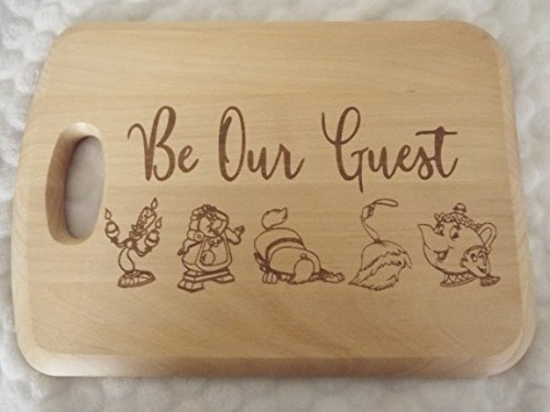 Be Our Guest Wooden Chopping/Cutting/Cheese Board Beauty and The Beast Gift