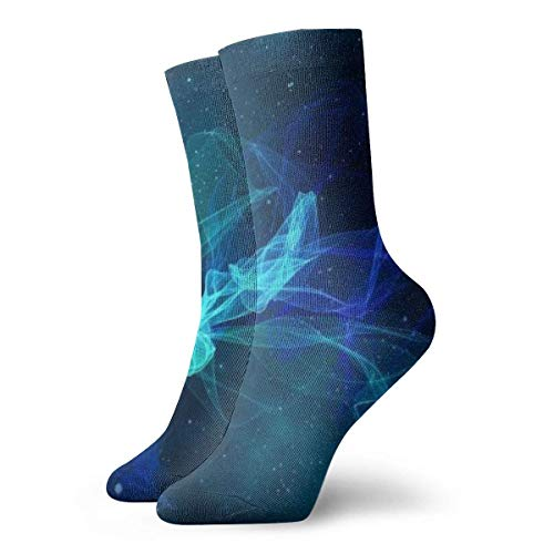 XCNGG Calcetines Universe Particles Vibration Line Senderismo Crew Calcetines para Mujeres Hombres