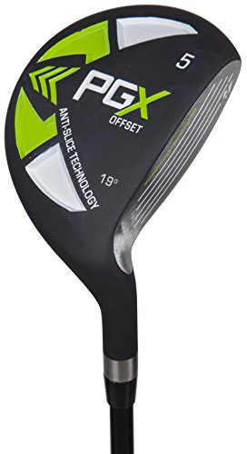Pinemeadow Golf Men's 12392 PGX Offset 3 Wood Driver, Black/Green, Right Hand