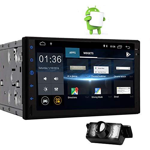 EINCAR Double DIN Radio Android 8.1 Autoradio Bluetooth Touch Screen Capacitivo da 7 Pollici Navigazione GPS 2 GB di RAM + 16 GB di Rom Supporto unità Principale Quad-Core Controllo del Volante USB
