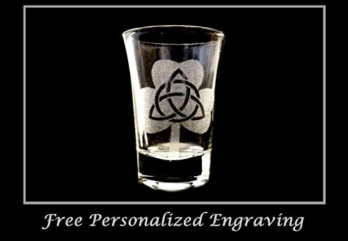 Trinity Clover Shot Glass - Free Personalized Engraving