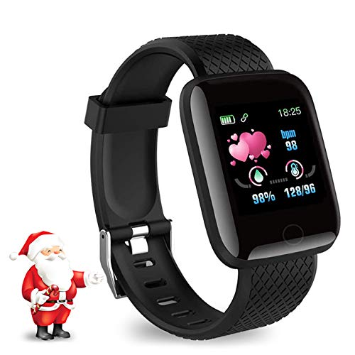 Leopold Smart Watch 2020 Nuovo Modello, Fitness Tracker Maschile e Femminile, cardiofrequenzimetro per ossimetro, Orologio Intelligente Impermeabile IPX7, Compatibile con iPhone/Android Samsung