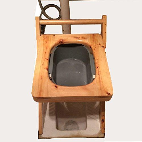 MJY Toilettenstuhl aus massivem Holz mit Waschbecken, Hocker, einfache kleine Bank, zu Hause Faltbare Toilette,A,Toilettenstuhl