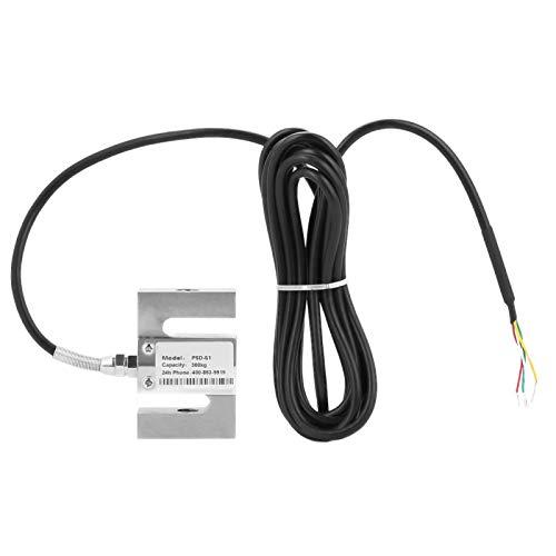 Sensor de ponderación, sensor de báscula de celda de carga de alta precisión tipo S con cable para báscula de cocina, báscula de baño para el cuerpo humano, báscula para joyería(300kg)