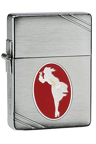 Zippo Zippo Feuerzeug 60001295 of The Year 2013-Limited Edition Benzinfeuerzeug, Messing, Chrome Brushed(Windy Collectible) Chrome Brushed( Windy Collectible)