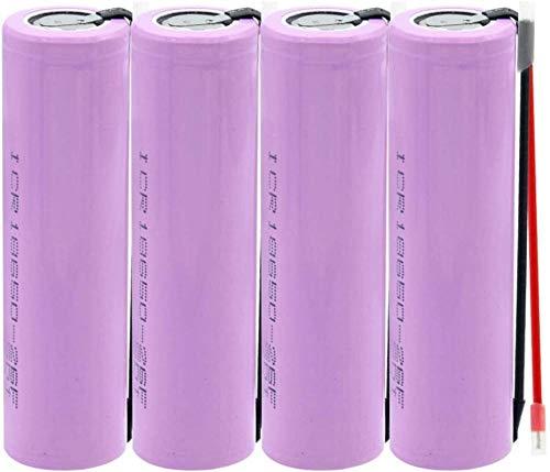 18650 3.7 v 2600mAh 20A Descarga ICR 18650 26F Li Ion Ion Litio Batería Recargable 18650 Batería 2 DIY Wire 4pieces-4 Piezas