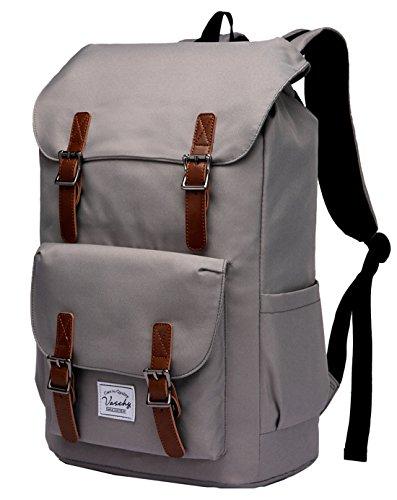 Laptop Backpack for Men,Vaschy Water Resistant School Bookbag College Rucksack Daypack for 15.6in Laptop Gray