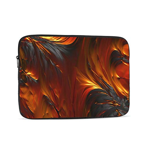 Fire Oil Paint Laptop Sleeve 13 inch, Shock Resistant Notebook Briefcase, Computer Protective Bag, Tablet Carrying Case for MacBook Pro/MacBook Air/Asus/Dell/Lenovo/Hp/Samsung/Sony