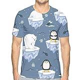 Christmas Seamless with Penguin Ice Short Sleeve tee Novelty Teen Unisex T Shirt