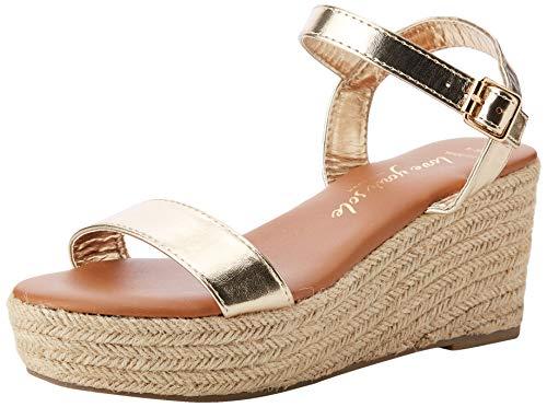 New look vrouwen brede voet Platter Open teen Espadrille Sandalen