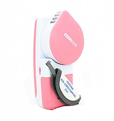 Portable Small Fan & Mini-air Conditioner, Runs On Batteries Or USB--Pink