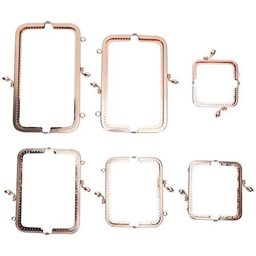 6 uds, Cierre de cierre, bolsa de hierro, marco Diy, cierres de metal de hierro para monedero para hacer carteras, bolsa para hacer, bolsa de cuero, marco de embrague