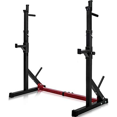 Merax Barbell Rack 550LBS Max Load Adjustable Squat Stand Dipping Station Gym Weight Bench Press...