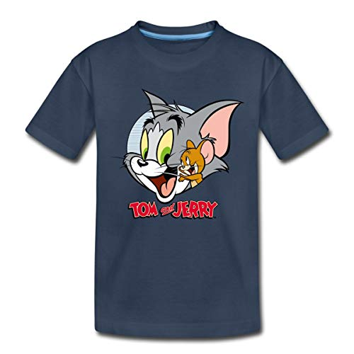 Tom Und Jerry Verschmust Kinder Premium T-Shirt, 134-140, Navy