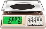 LIXIAOLIANSD Báscula para Cocina Escala Electrónica,Escala De Cálculo De Precios Comerciales 30kg,Adecuado For Cocina Comercial Y Escala De Banco Domésticos (Color : Concave Plate)