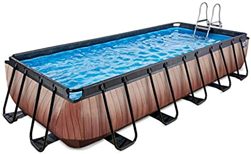 EXIT Pool Wood 540x250cm mit Filterpumpe - braun