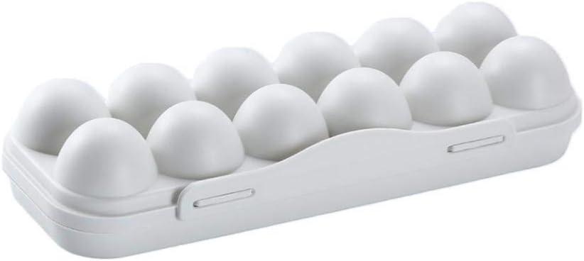 LINKLANK Protege y Mantiene Fresco 12//18 Bandeja para Huevos para frigor/ífico o Camping Huevera de pl/ástico port/átil con Tapa a Prueba de Golpes
