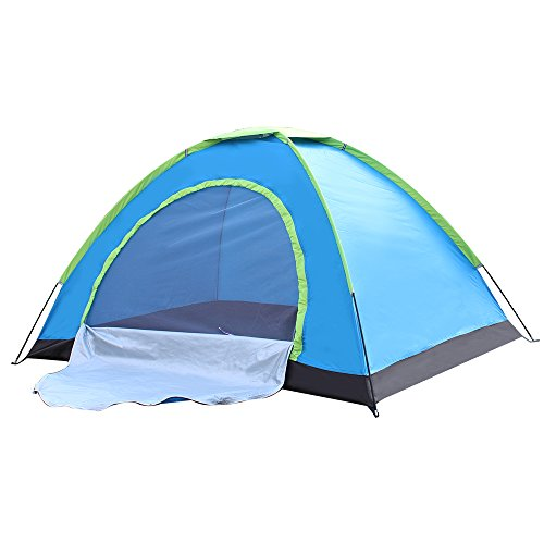 Techcell 2 Person Tent Camping Instant Tent Waterproof Tent Backpacking Tents for Camping Hiking Traveling(B)