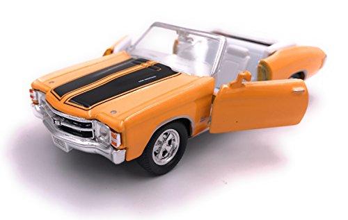 H-Customs 1971 Chevelle SS 454 Modellauto Auto Lizenzprodukt 1:34-1:39 Gelb