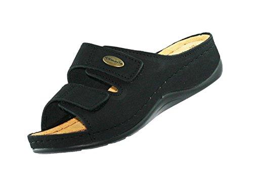 Tamaris Damen Hausschuhe 12751029 Schwarz 001 Leder, Größe:39;Farbe:schwarz