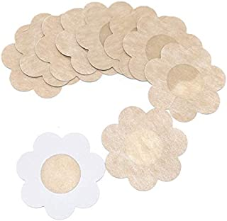 kuou Nipple Cover Breast Petals Round One Size Fits All Flower Shape 2 Pairs Nippleless Covers Reusable Pasties
