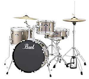 Pearl RS584CC707 Roadshow 4-Piece Drum Set, Bronze Metallic
