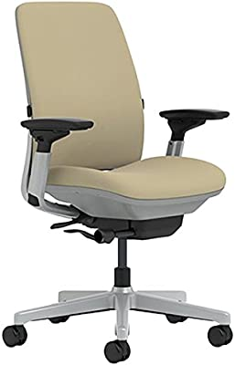 Steelcase Amia Chair with Platinum Base & Standard Carpet Casters, Malt