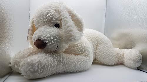 Inter 91001 Carino - Peluche de perro trufa (tamaño grande, con pelo blanco)
