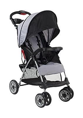 Kolcraft Cloud Plus Lightweight Easy Fold Compact Travel Baby Stroller, Slate Grey by Kolcraft