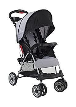 Kolcraft Cloud Plus Lightweight Easy Fold Compact Travel Baby Stroller Slate Grey