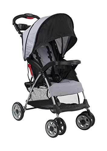 Kolcraft Cloud Plus Lightweight Easy Fold Compact Travel Baby Stroller, Slate Grey